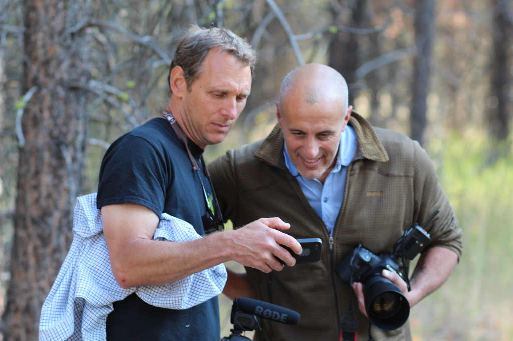 Kevin and Paolo Marchesi checking shots