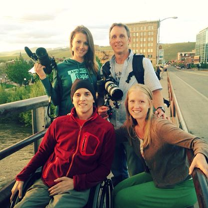 Filming in Missoula - Joe, Amy, Angelina and Kevin