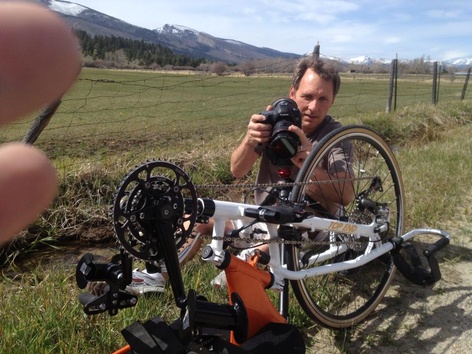 Kevin shooting a training ride in Montana