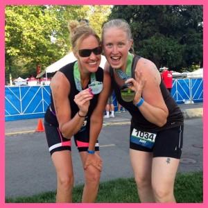 Amy Rosendahl and Amanda Ibrahim Boise 70.3 Half IRONMAN 2014